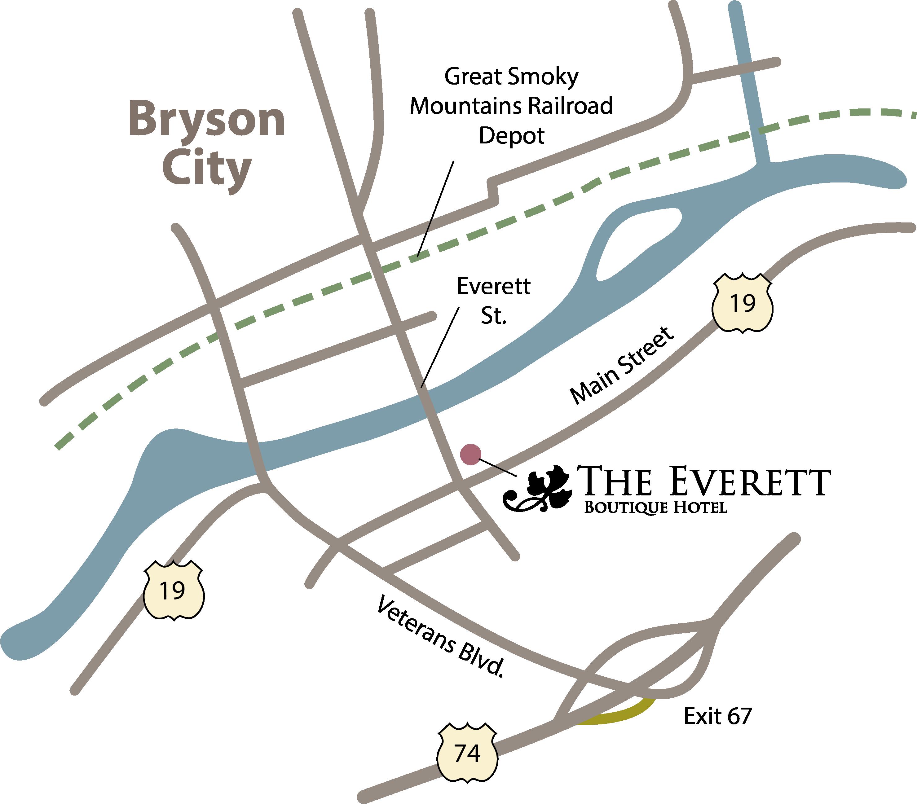Bryson Nc Map.Hotels In Bryson City Nc Romantic Weekend Getaway From Atlanta